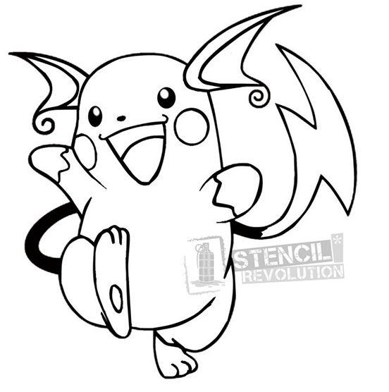 Raichustencil Dibujos Para Colorear Pokemon Dibujos De Pokemon Colorear Pokemon