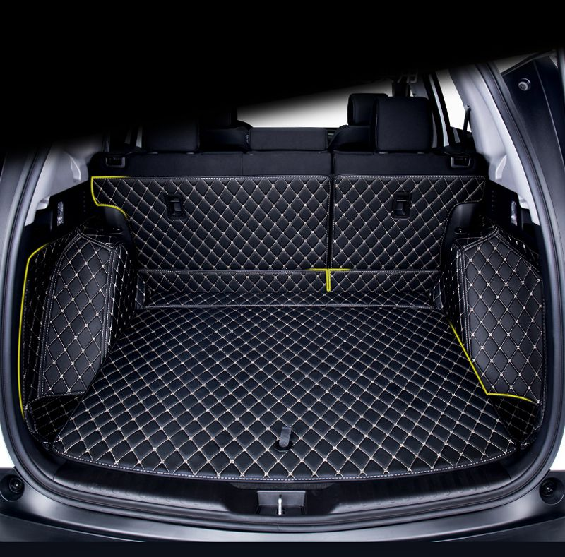 Artificial Leather Car Boot Carpet Trunk Cargo Liner Trunk Mat Protector For Honda Cr V 2017 2018 Leather Accessories Artificial Leather Interior Accessories