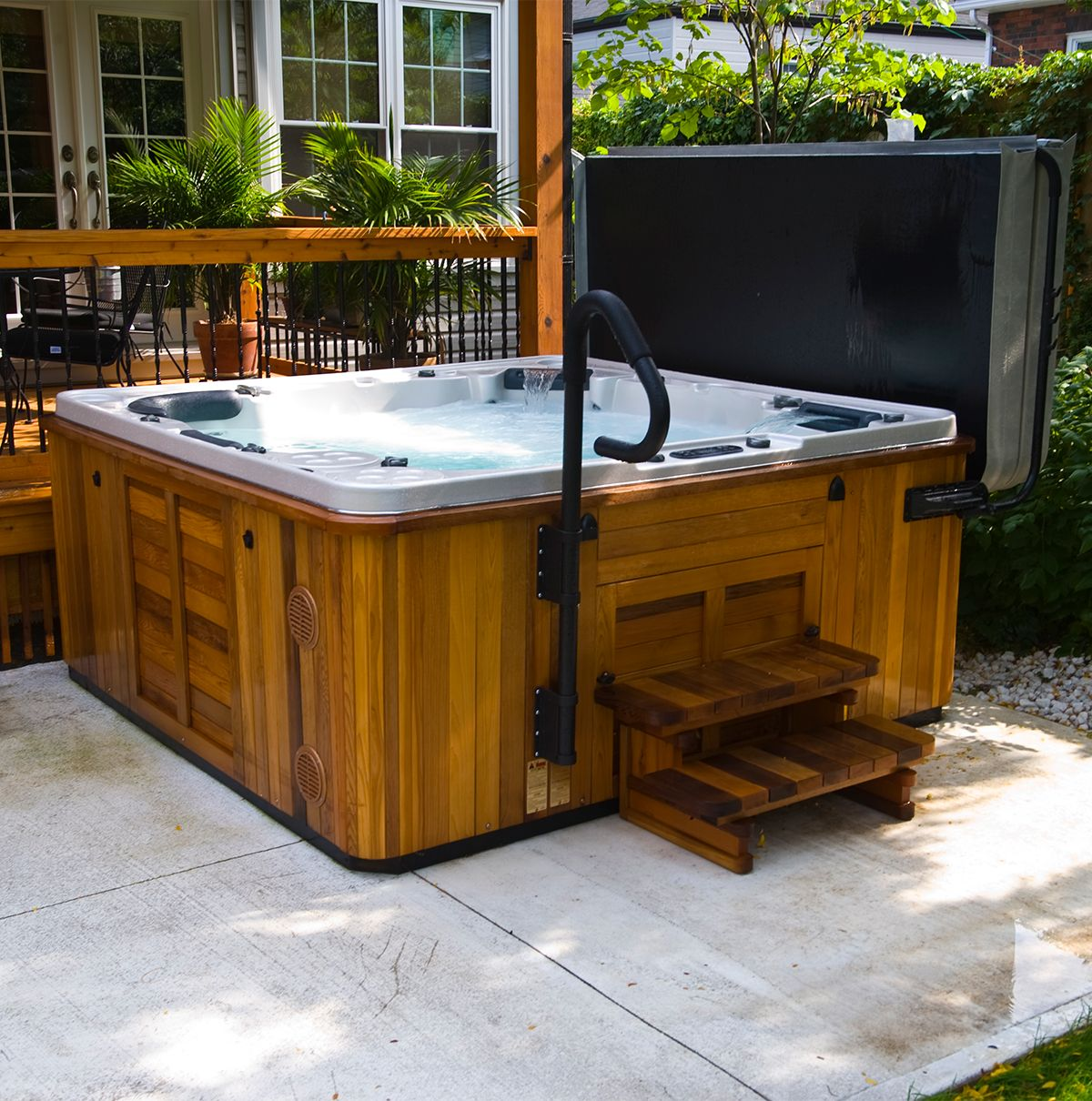 Make getting in and out of your hot tub easier with this safety grab ...