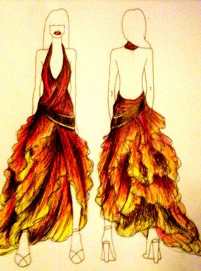 Dresses with Fire