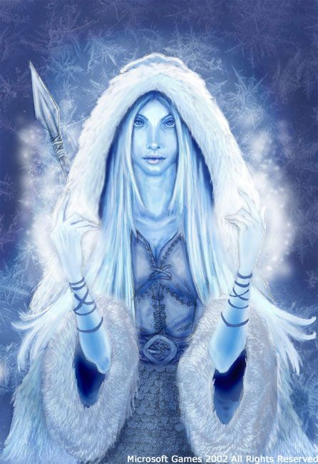 Skadi, a giantess and goddess of winter and the hunt in Norse Mythology