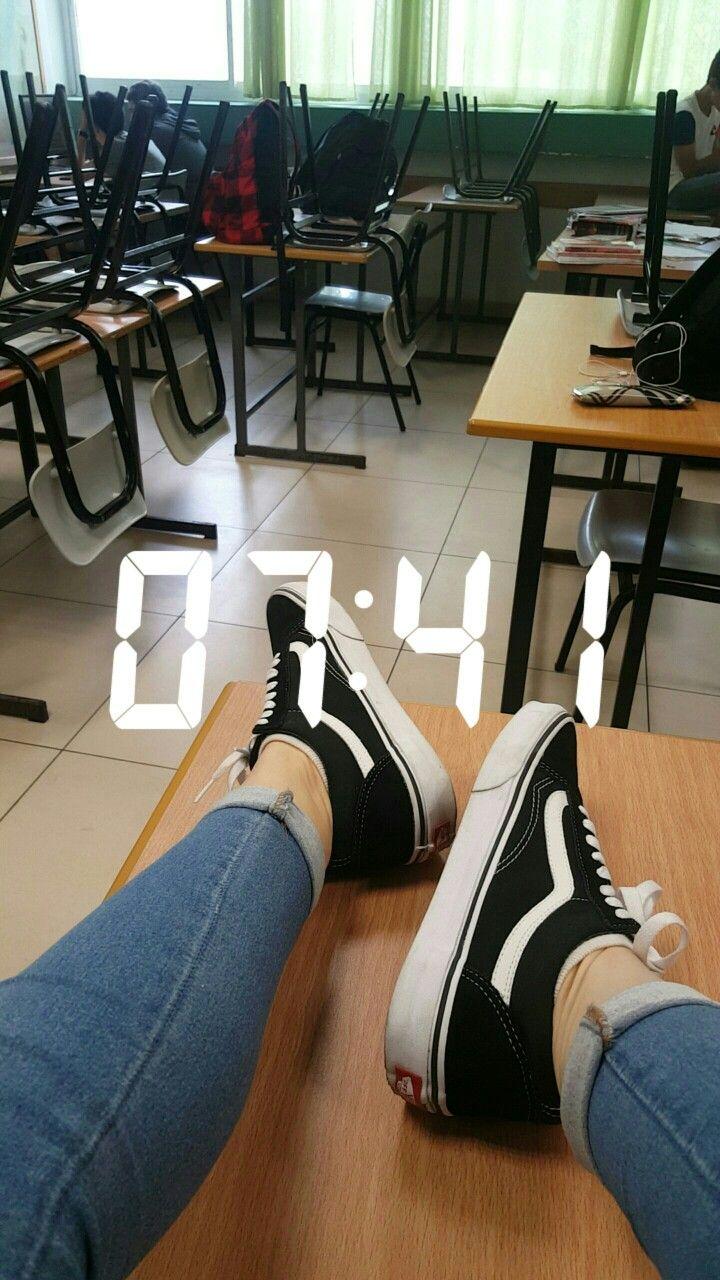 Tsuforon Oldskoolvans School Snapchat Clock Pinterest