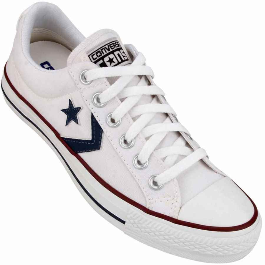 c734b3a4a47 Tênis Converse All Star Player Core OX Casual Masculino Branco