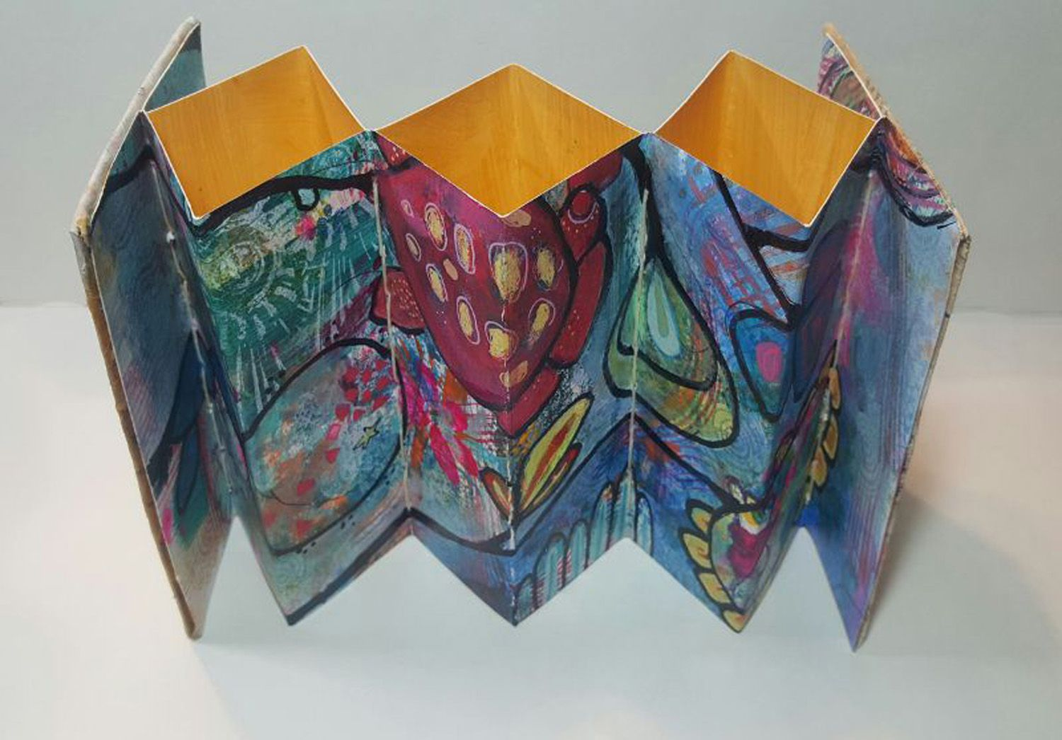 Back To Back Accordion Book Book Art Accordion Book Elements Of Art
