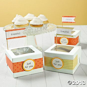 Easy Way To Decorate Cupcake Boxes Food Pinterest Cupcake Magnificent Decorative Cupcake Boxes