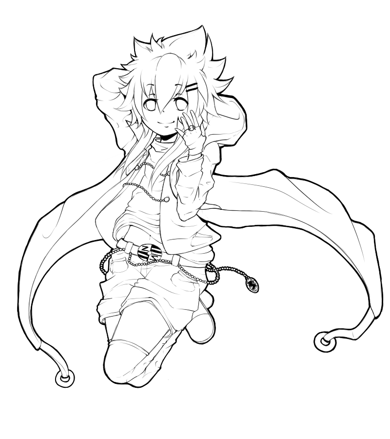 Wip Z Jump Lineart Anime Lineart Coloring Books Anime Drawings