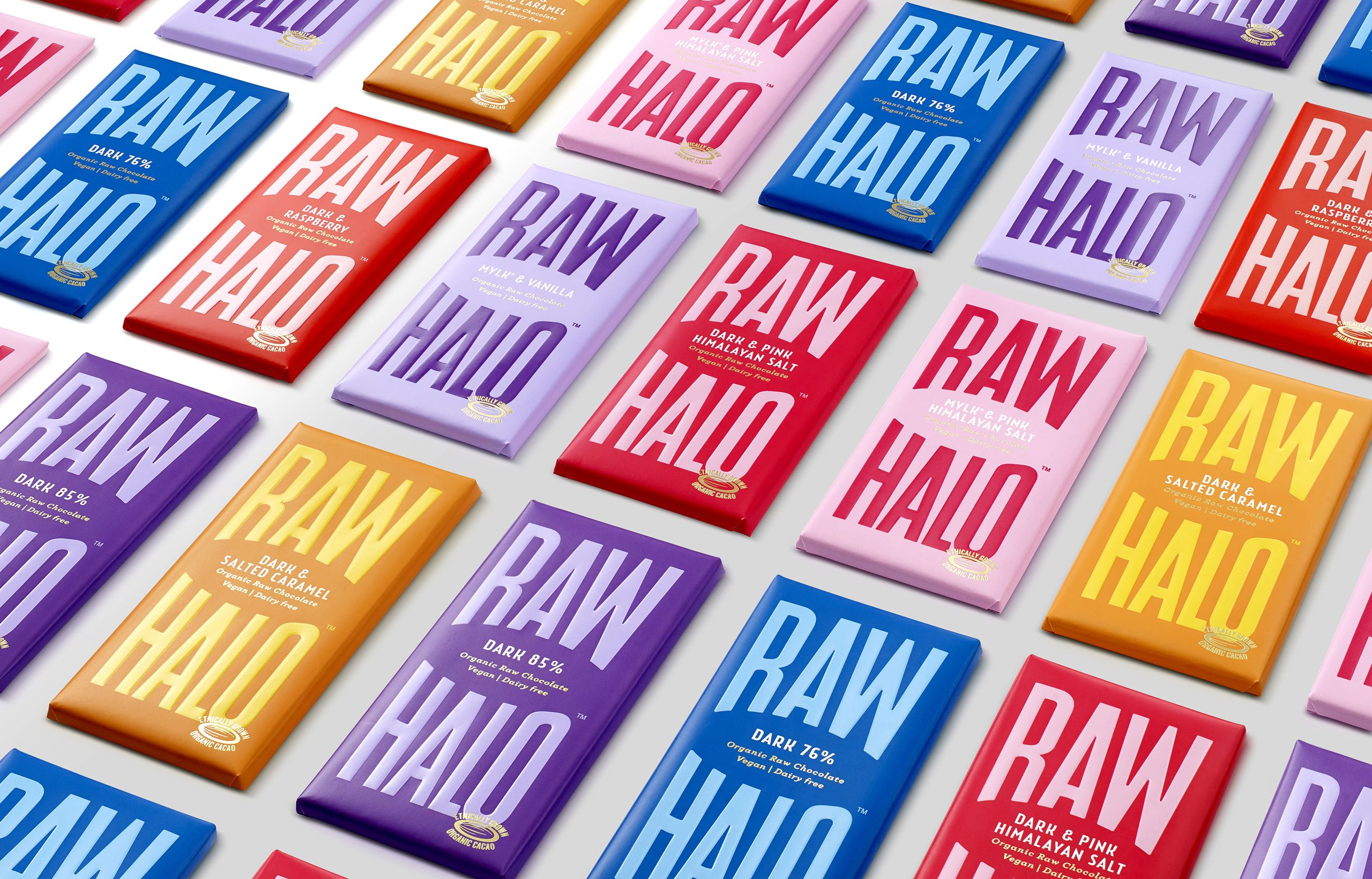 Raw Halo branding & packaging designed by B&B Studio