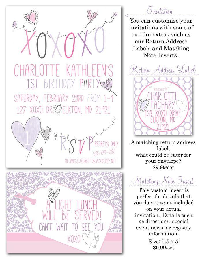 xoxo, valentines day, february birthday, hearts, girl party ...