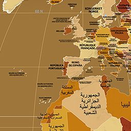 Endonym Map World Map Of Country Names In Their Local Languages - World map pic with country name