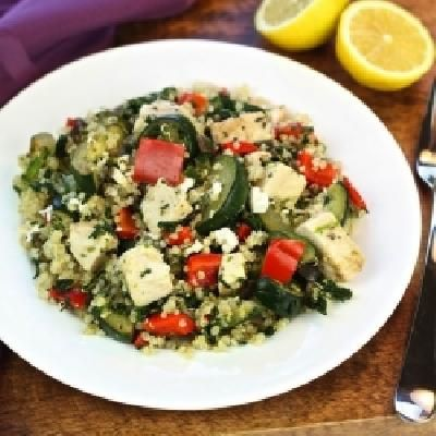 awesome Greek Chicken Quinoa