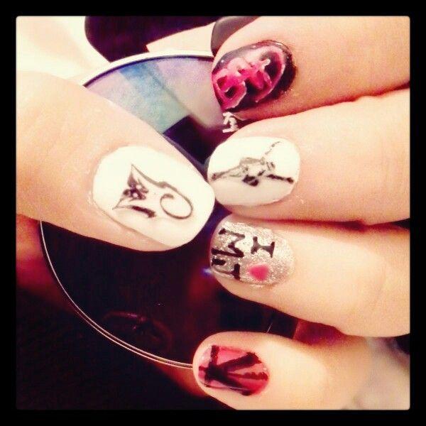 Nails MichaelJackson Uñas estilo Michael Jackson   Makeup and nails ...