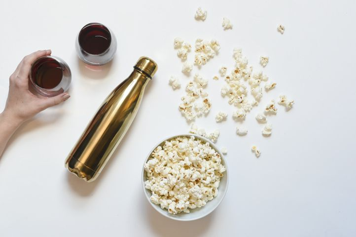 Movie hack: bring a S'well bottle full of wine to the theater. Get the most out of your movie theater experience with movie hacks and more on #SwellBlog