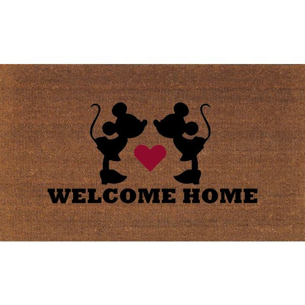 Minnie U0026 Minnie Mouse Welcome Home Disney Door Mat Coir Doormat Rug 2.