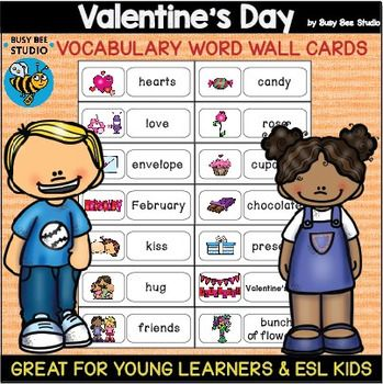 ESL Word Walls Valentines Day  Literacy Teaching ideas and Ell