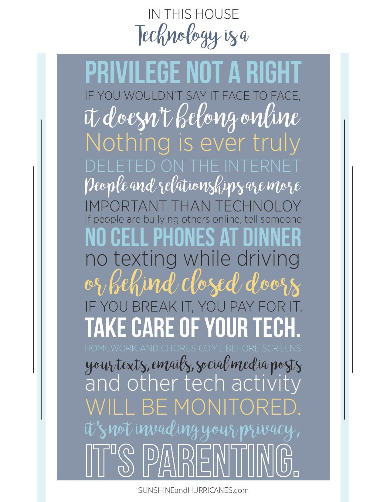Tech Rules for Teens and Tweens | Loves it | Pinterest | Parents