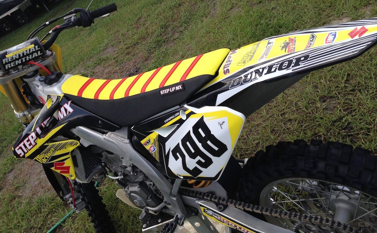 Gripper Seat Cover Seat Cover Dirtbikes Red Blue Yellow