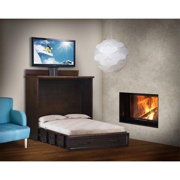 Amish Space Saving Wall Bed With Tv Lift Top 6 100 Liked On