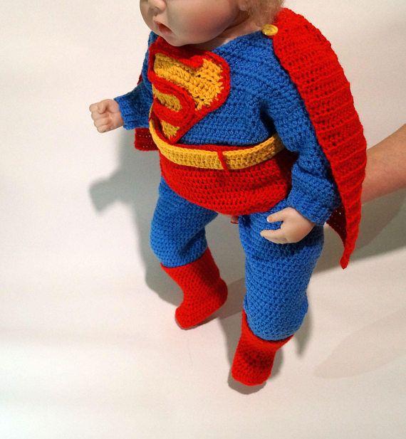 Infant Superman Crochet Costume PDF Pattern Superman Costume ...