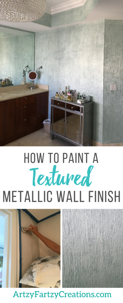 How to Paint a Textured Metallic Wall Finish Diy wall