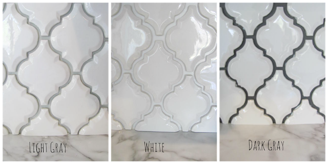 Best White Arabesque Tile With Three Different Colors Of Grout 640 x 480