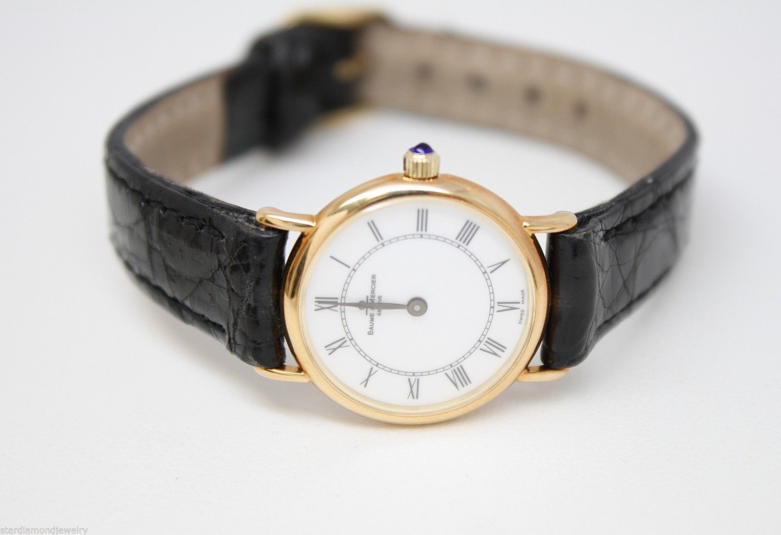 69dd47aa9e6 Vintage Ladies BAUME  amp  MERCIER Geneve Swiss Made Watch in 14K Yellow  Gold on eBay