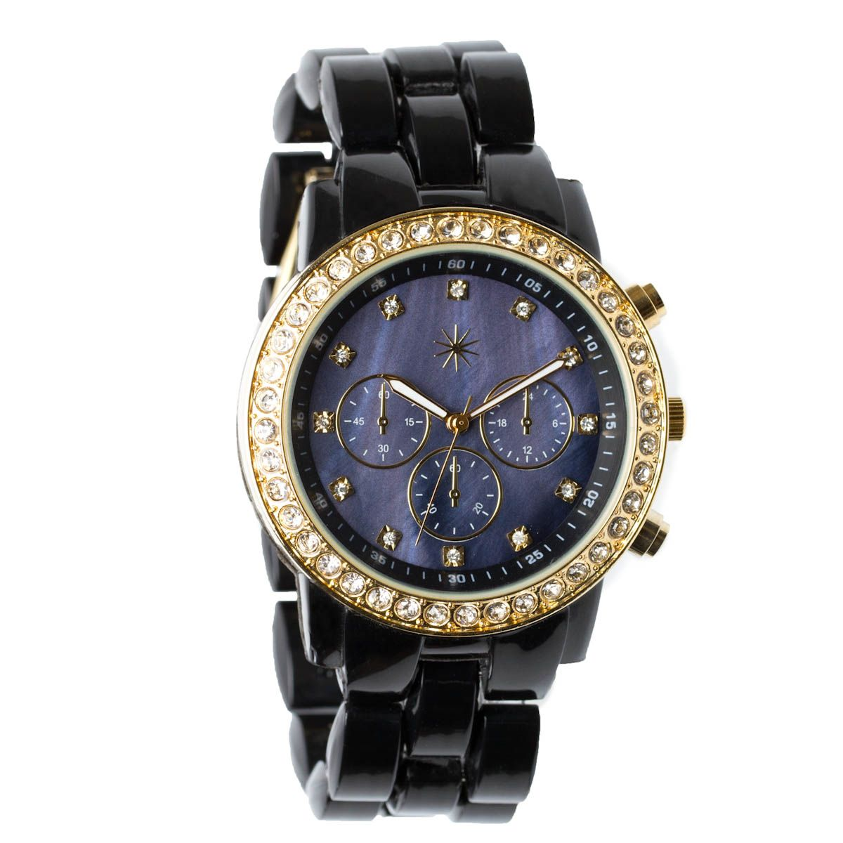 Stylish Seconds Watch in Black - $39.95