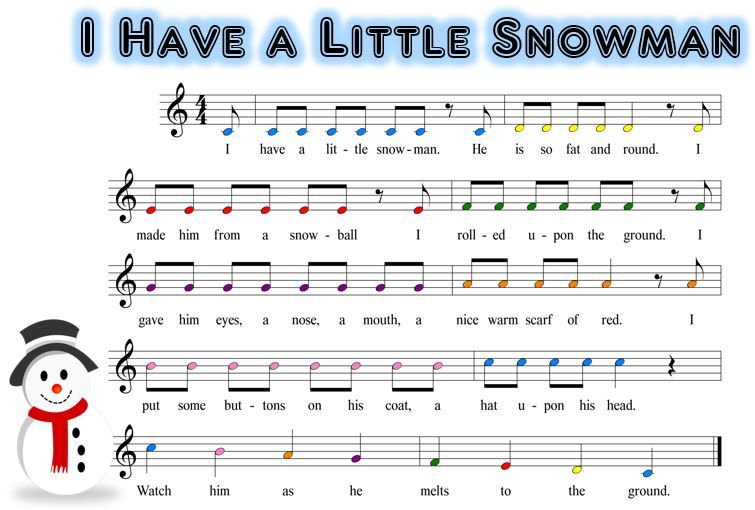 Here S A Snowman Scale Song That S Great For My Sweet Little One
