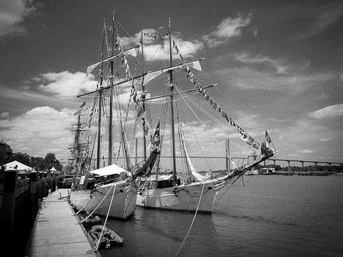 la belle poule et l'etoile french navy shoonertallship race, Savannah , Georgia , usa,-9