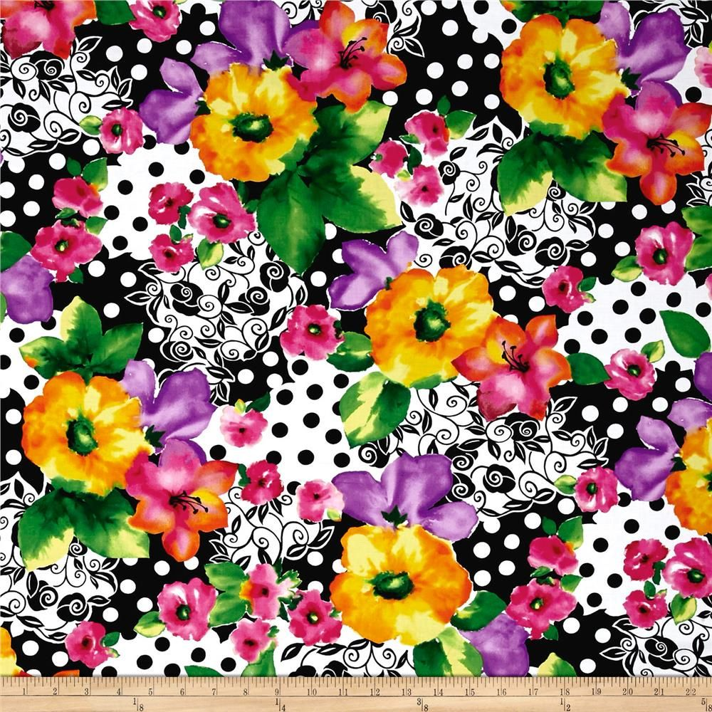 Quilting Treasures Brooke Large Floral Multi From Fabricdotcom Designed By Studio 8 For Quilting Treasures This Quilting Treasures Printing On Fabric Quilts