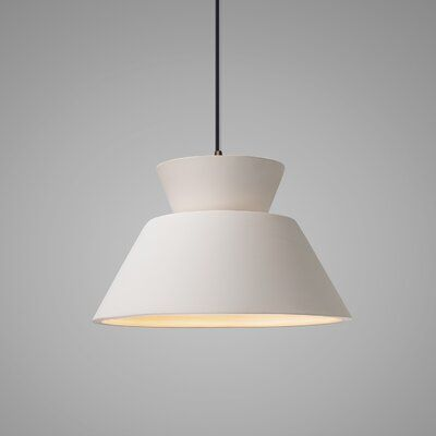 Perth 1 Light Single Geometric Cone Led Pendant Bulb Type Incandescent Shade Color Bisque Finish Dark Bronze Light Hanging Pendant Lights Pendant Light