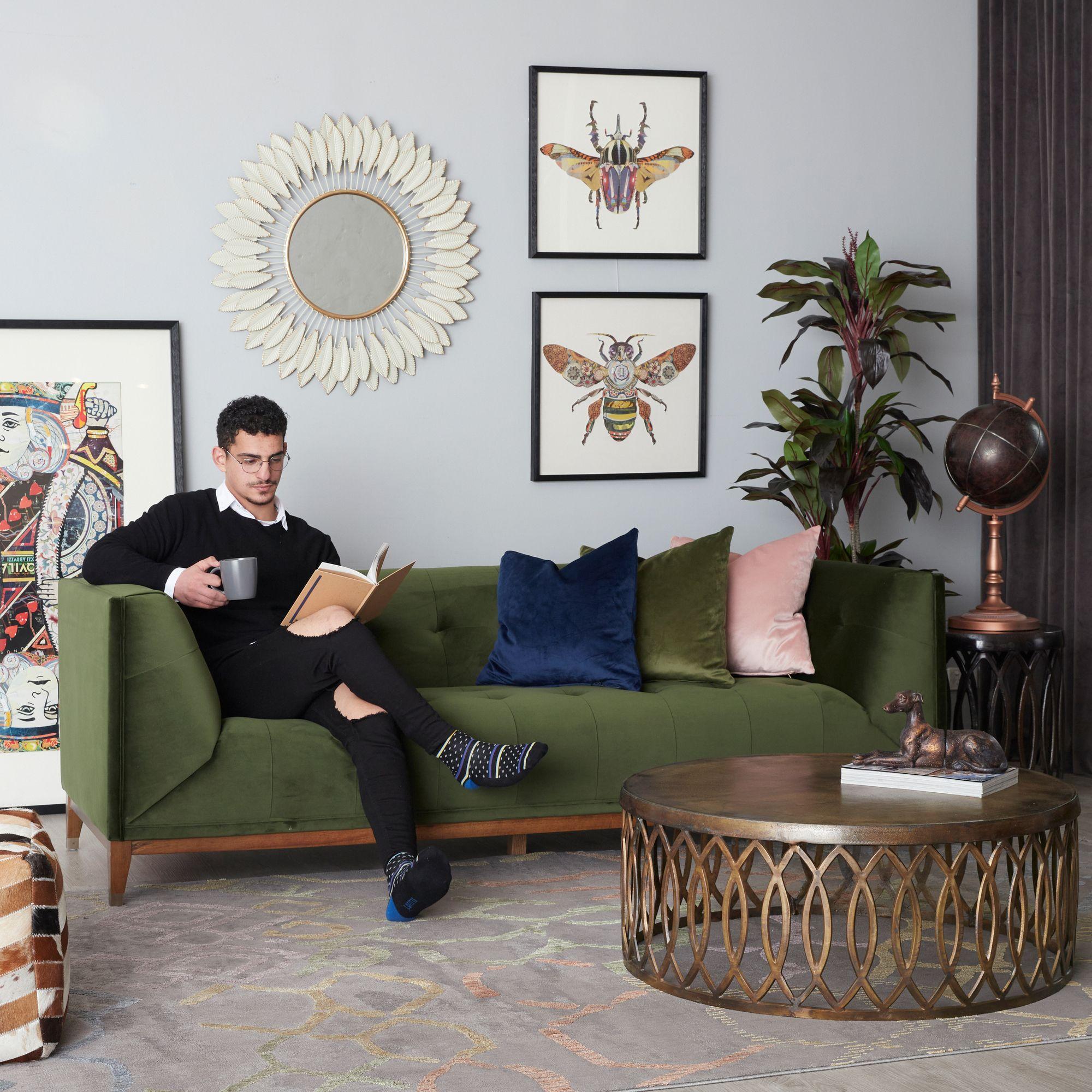 Melbourne Living In 2020 Green Velvet Sofa Green Fabric Sofa Velvet Sofa