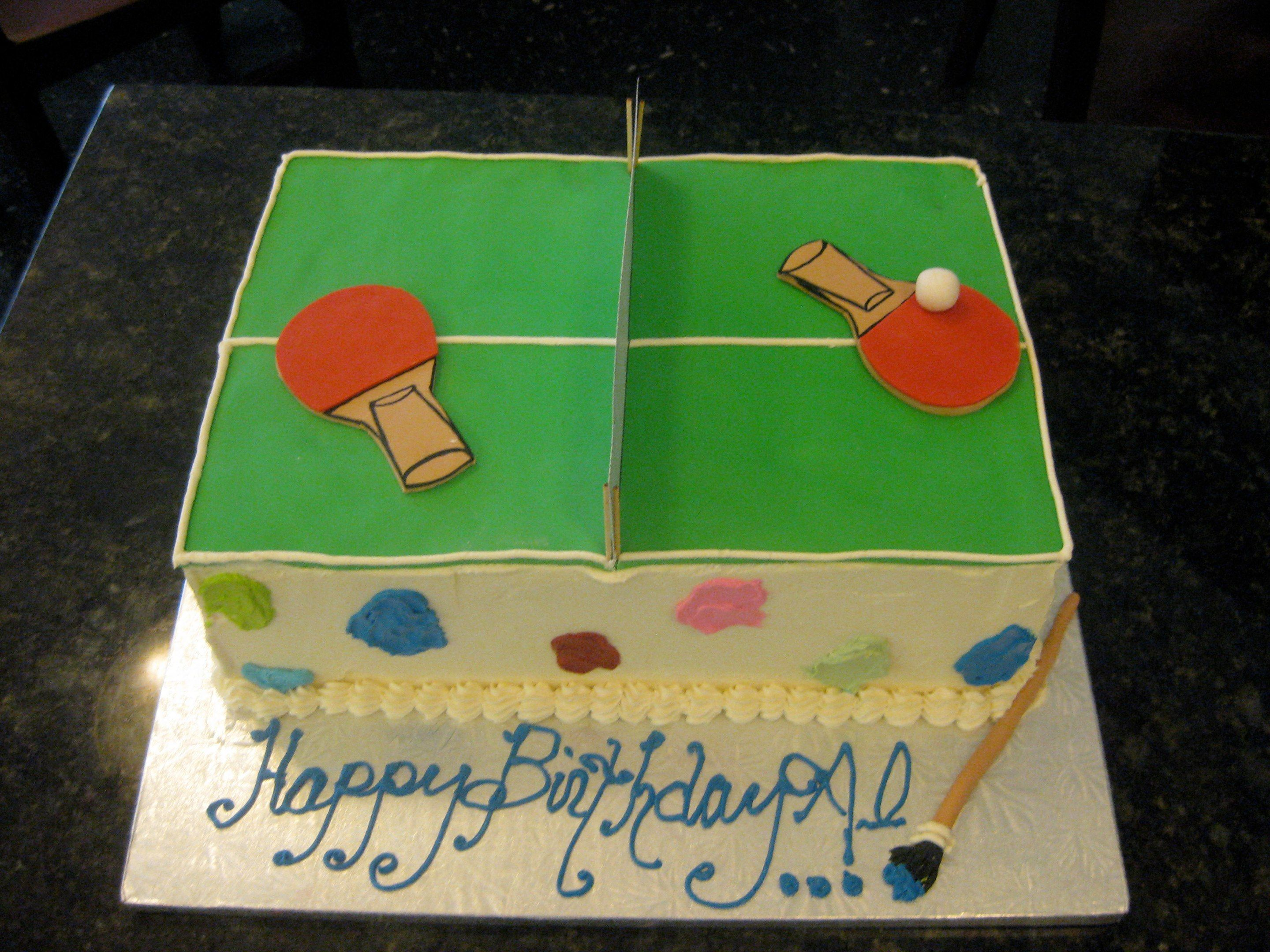 I Want to Play! Ping Pong Birthday Cake