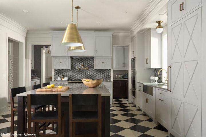 Gold Standard Gold Blooded California Home Design Killer - Gold kitchen light fixtures