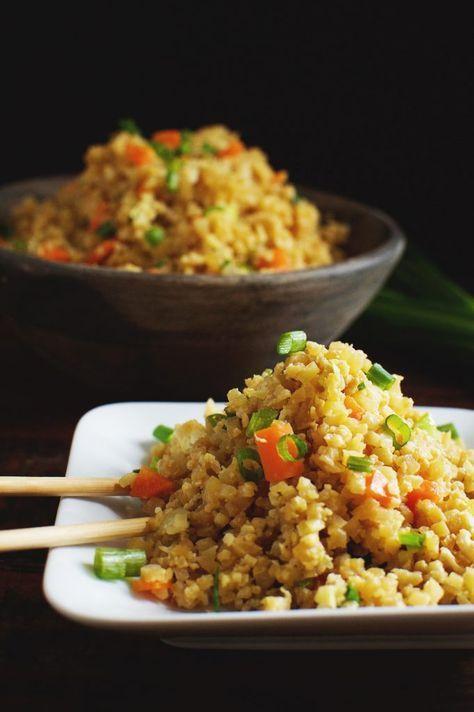 Easy Low-Carb Cauliflower Fried Rice   - Recetas -