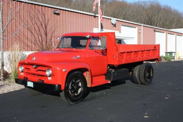 1955 ford red truck photos 1955 ford f800 dump truck for sale in richland center wisconsin. Black Bedroom Furniture Sets. Home Design Ideas