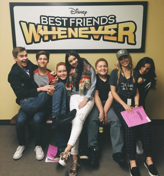 On Wednesday April 6 2016 The Cast Of Disney Channel S Best Friends Whenever Began Working On Seas Best Friends Whenever Disney Friends Disney Best Friends