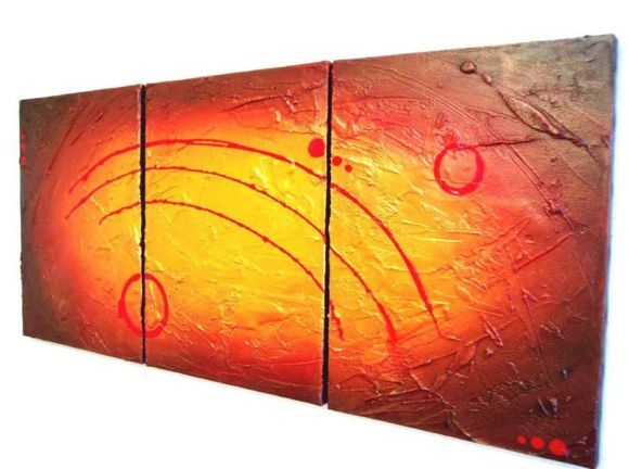 HUGE triptych abstract original \
