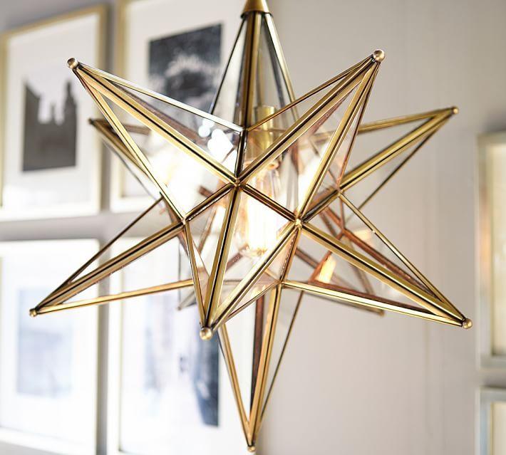 Glass star pendant in gold foyer decor pinterest glass glass star pendant mozeypictures Choice Image