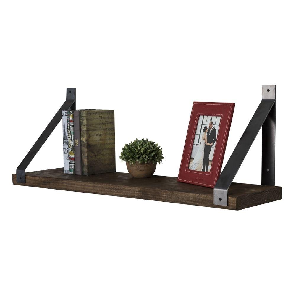 Industrial Grace Angled Bracket Shelf Multiple Colors