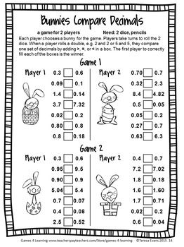 Easter Math Games Fourth Grade Easter Math Activities With