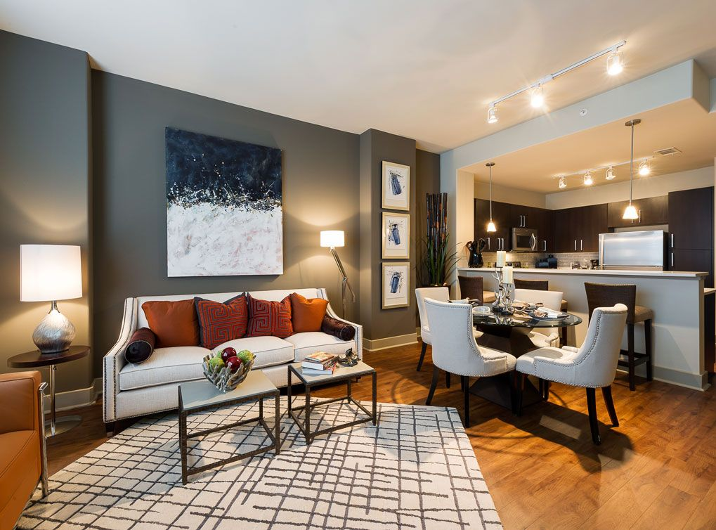 Model Living Room At Amli River Oaks Houston Apartment Apartment Design Apartment Layout