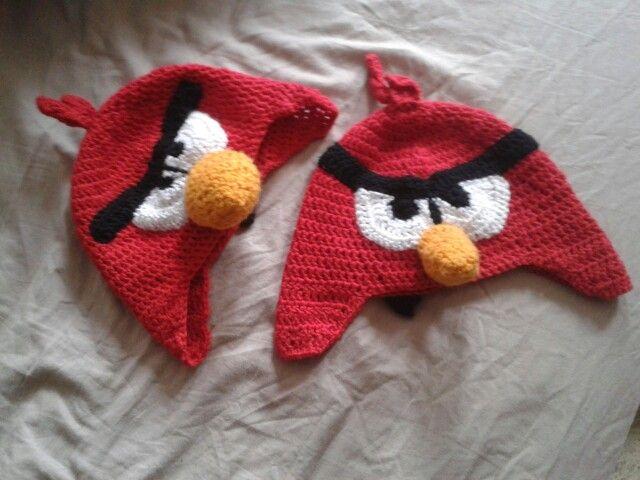 Háčkované čepice Angry Birds