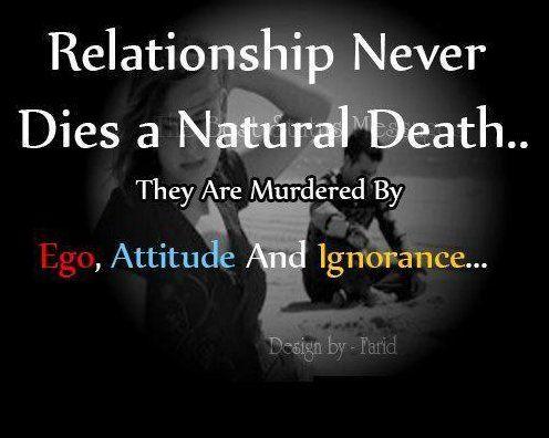 oh my gosh short sweet and meaningful ego attitude ignorance