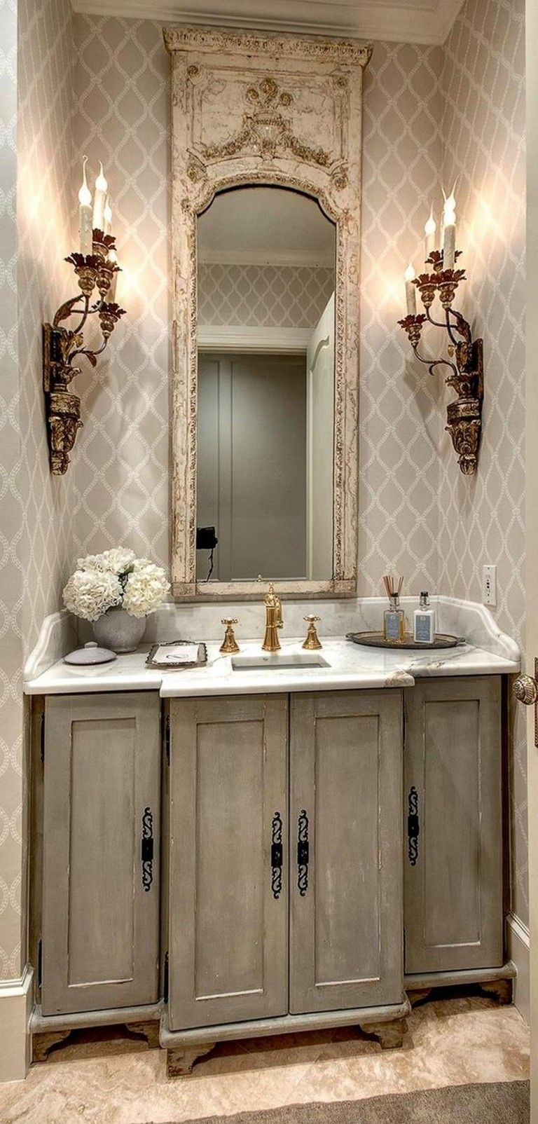 31 Easy French Country Decor Ideas On A Budget For 2018 Country Bathroom Decor French Country Decorating Bathroom French Country Bathroom