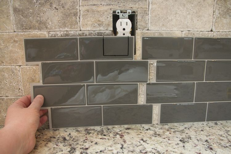 Modern Kitchen Tile Update Modern Kitchen Tiles Stick On Tiles