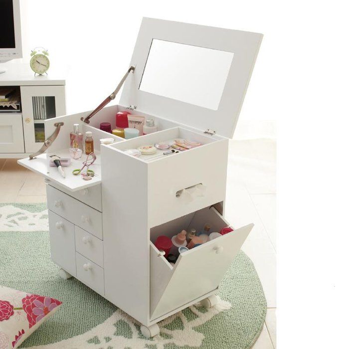Cosmetics storage cabinets dressing table mirror jewelry ...