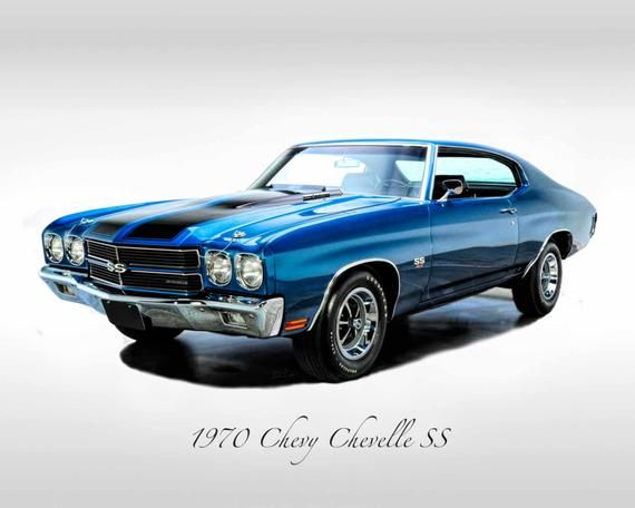 Classic Cars – 1970 Chevy Chevelle SS – Muscle Car – Print