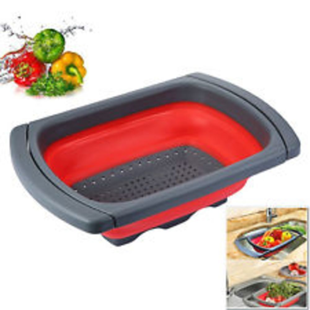 Kitchen Collapsible Colander Accessories Gadgets FOR Over The Sink Strainer  6 Qt #GlotochExpress