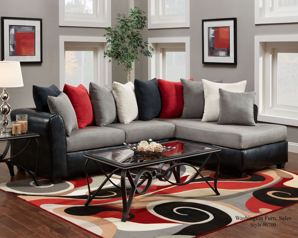 Best Featured Friday Dolphin Sectional Red Living Room Decor 400 x 300
