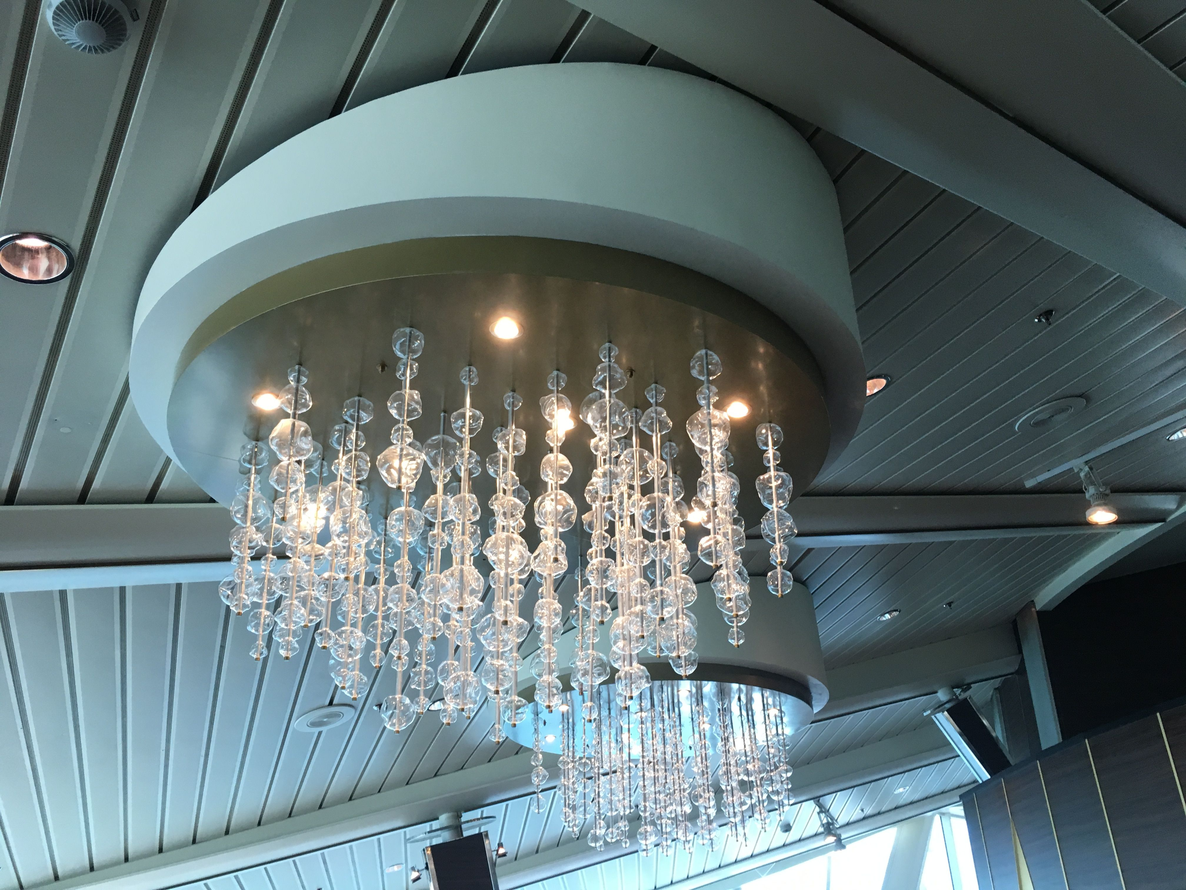Chandelier In Viking Crown Lounge Aboard Royal Caribbean S Vision Of The Seas 10 23 17